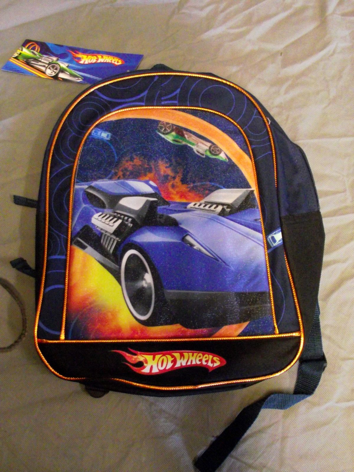 new with tags hot wheels school book bag kid s back pack dark blue