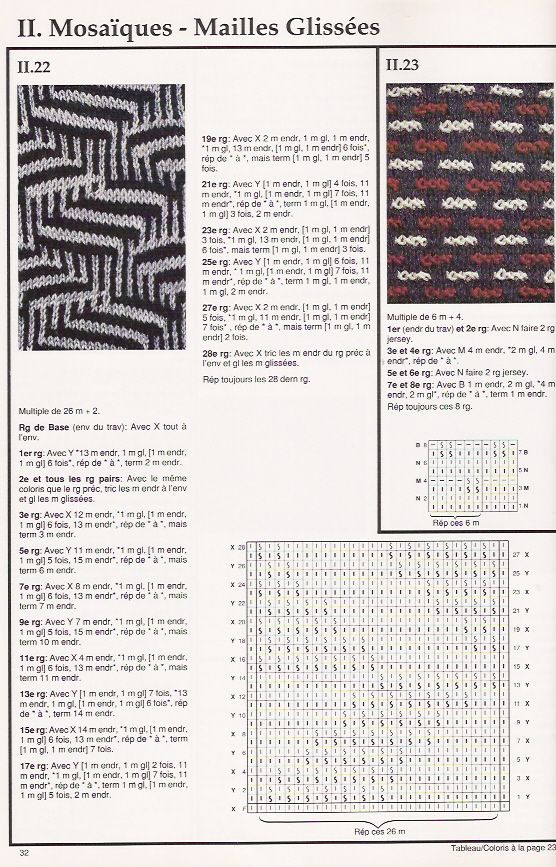 SOLO PUNTOS: Tricot dos colores | Knit:Slip stitch, Mosaic Patterns ...