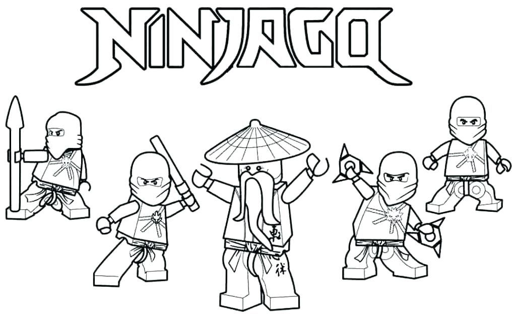 Ninja Boyama Sayfasy Boyama Sayfasi