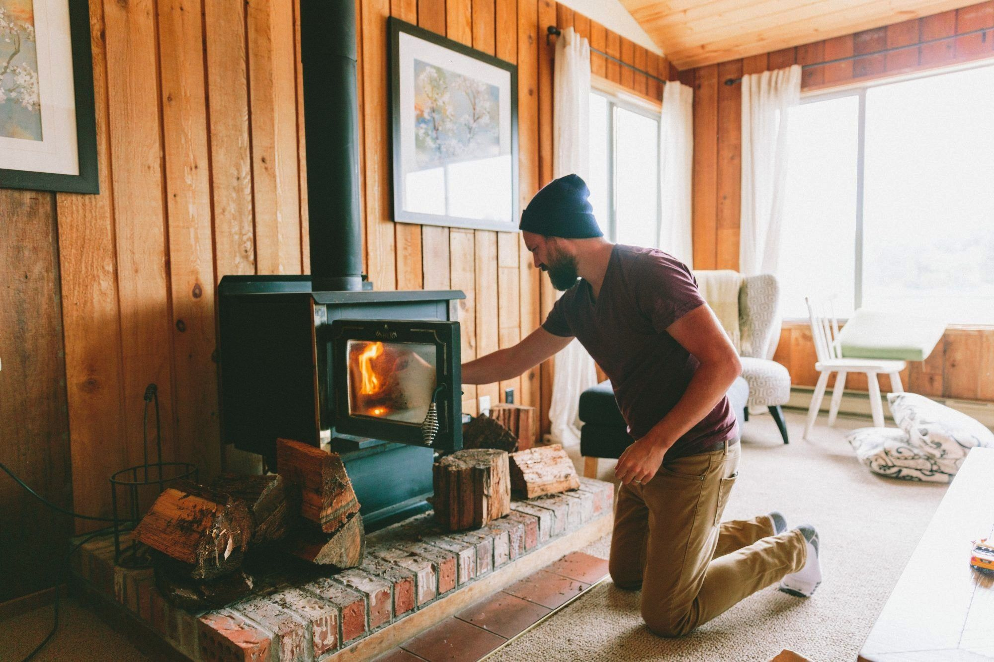 Retreatcabininspired Cabininspired Retreat Décor These Ideas Decor Home Cozy Turn I In 2020 Wood Stove Wood Burning Fireplace Inserts Wood Burning Fireplace