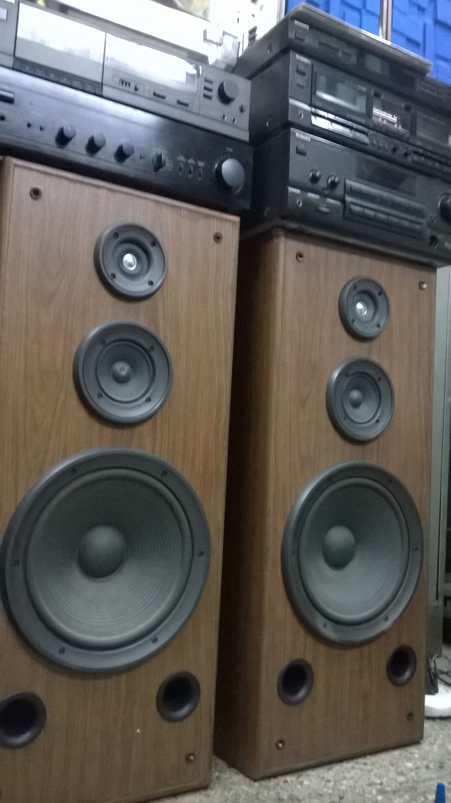 Technics Japan Sb A 35 Vintage Floor Standing Loud Speakers With 12 Drive Vintage Music Vintage Electronics Music System