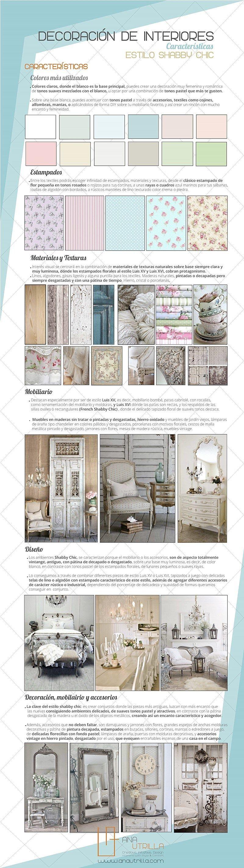 5d1db15e59a Infografía estilo shabby chic en decoración de interiores por Ana Utrilla