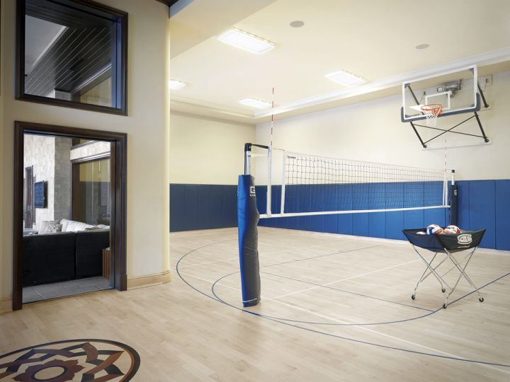 Minimalist Indoor Home Basketball Courts | Basketball Room