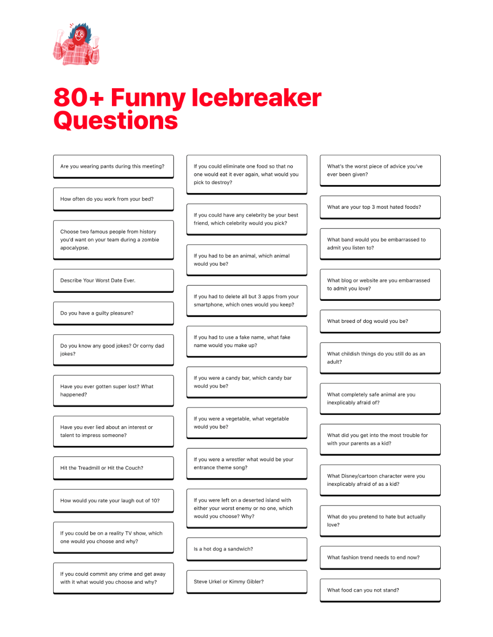 70 Funny Icebreaker Questions Free Pdf Icebreakers Io Ice Breaker Questions Funny Icebreaker Questions This Or That Questions [ 1294 x 1000 Pixel ]