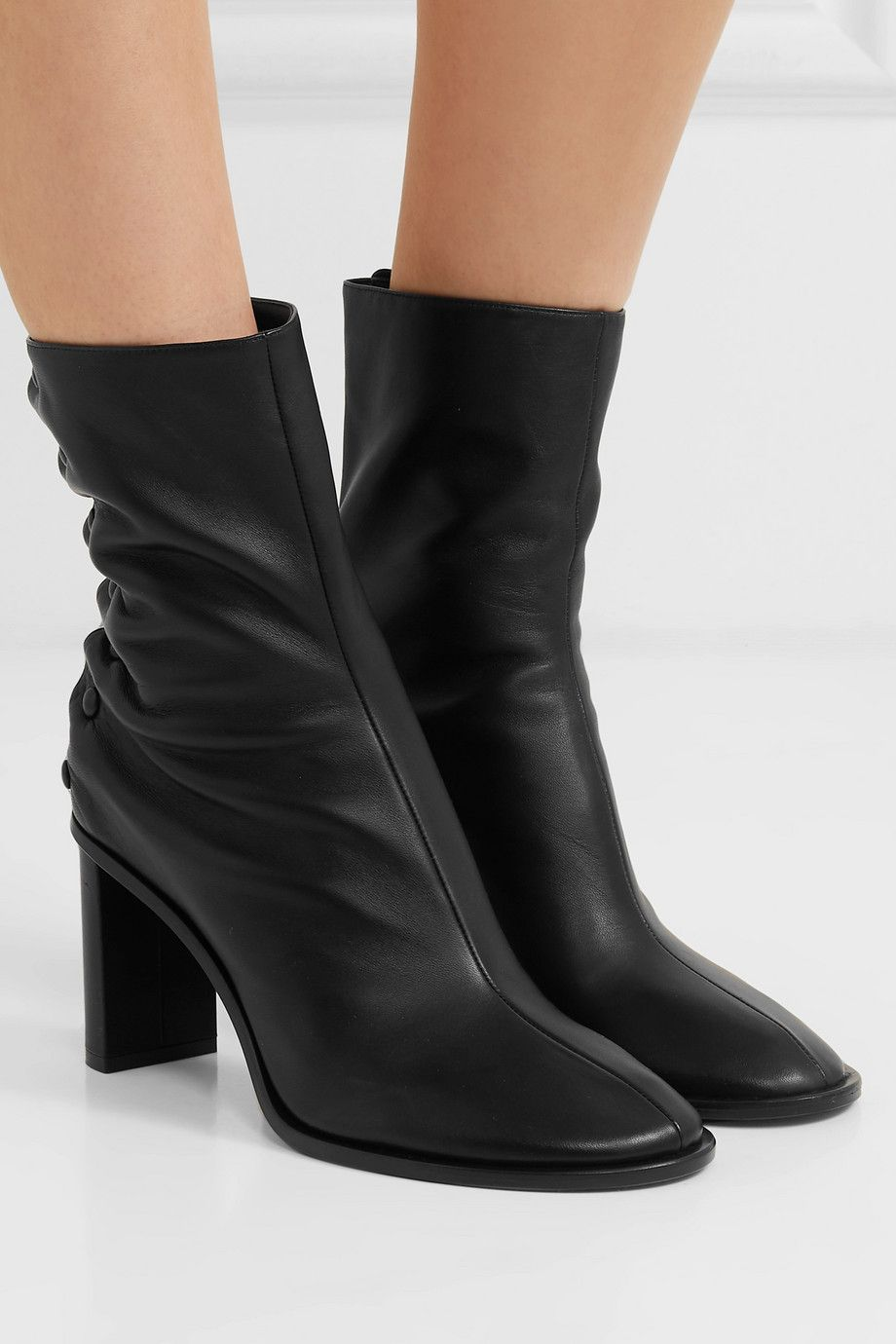 7bdd04f596e The Row - Tea Time leather ankle boots in 2019 | FA20 | Boots ...