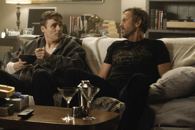 """House (Hugh Laurie) and (Robert Sean Leonard) in the """"The C-Word"""" episode of HOUSE."""