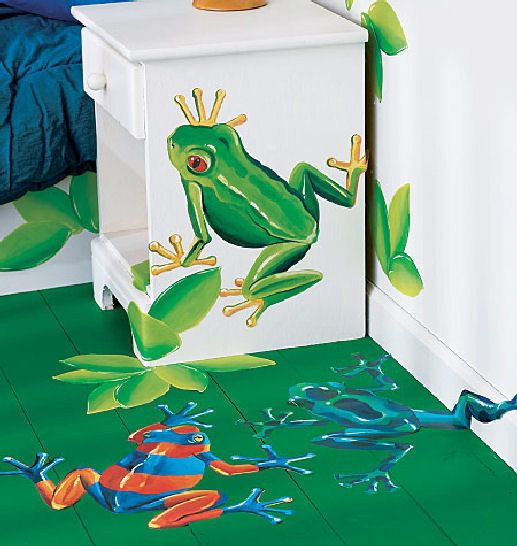 Wallies Tree Frogs Wall Stickers Murals 14 Big Decals Leaves Pond Swamp Jungle Frog Wallpaper Frog Wall Decals Tree Frogs