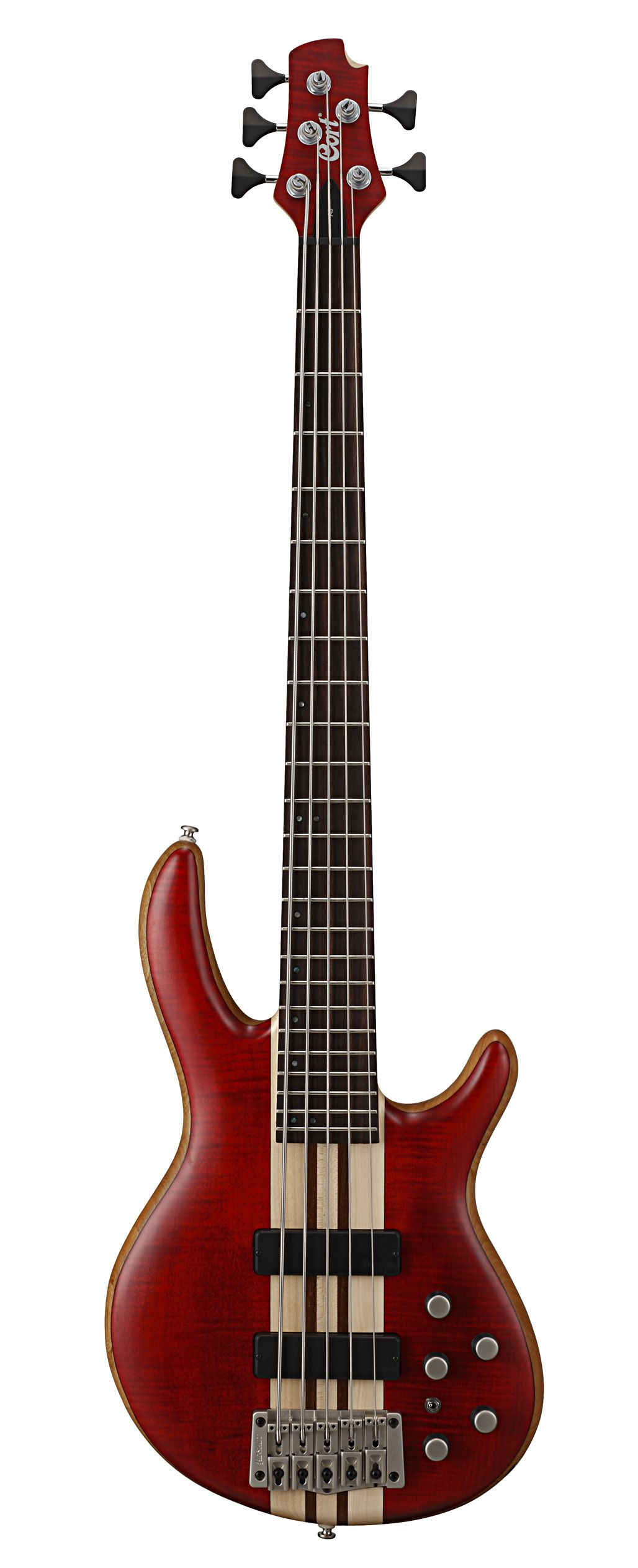 Cort A5 Bass Guitar OPBC Open Pore Black Cherry