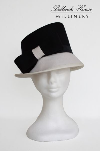 Wool Felt Hat by BELLINDA HAASE #HatAcademy #Millinery