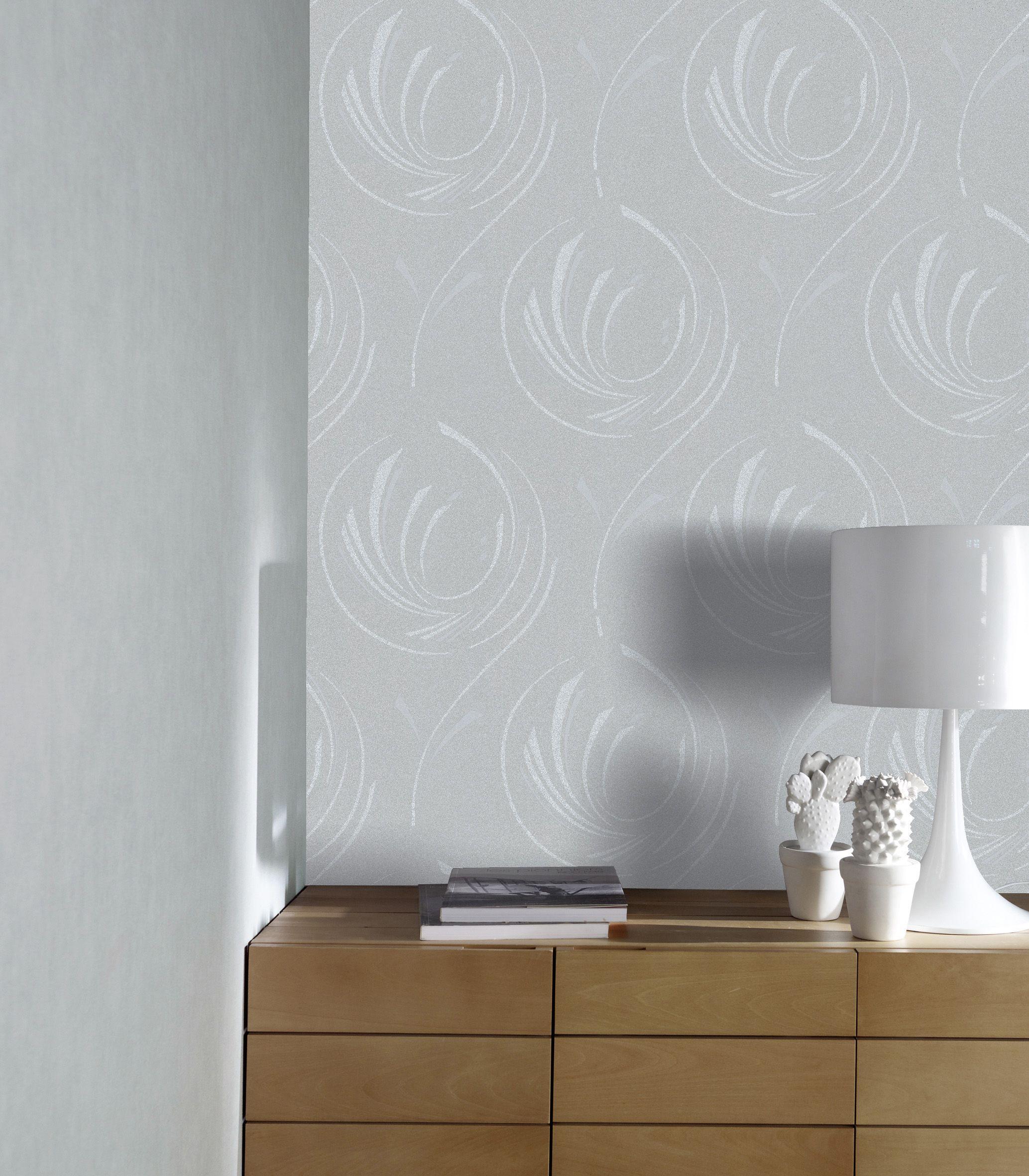 Decoller Papier Peint Intissé papier peint expansé sur intissé colours city spirales gris