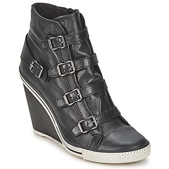 939878044061 Super cool leather Ash wedge trainers