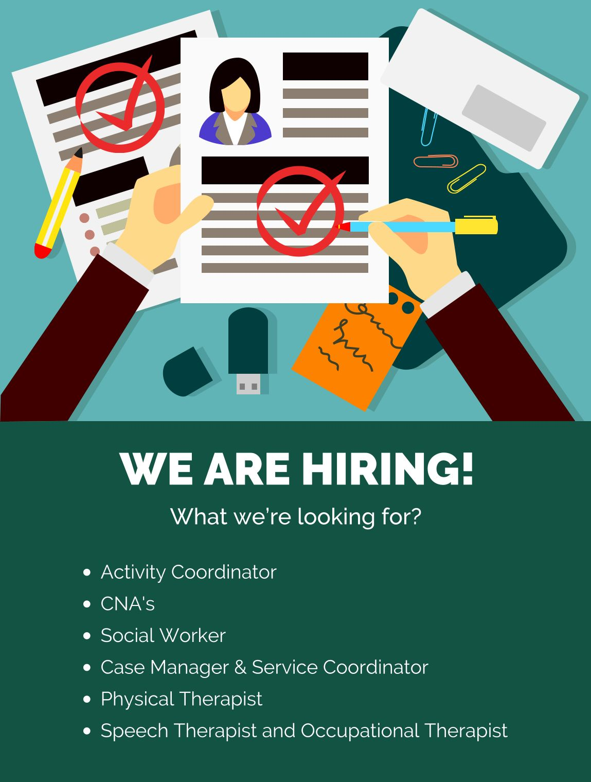 Home We are hiring, Wellness center, Occupational therapist