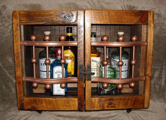 Reclaimed Liquor Cabinet: Wall Mounted Bar | MY DREAM CASA ...