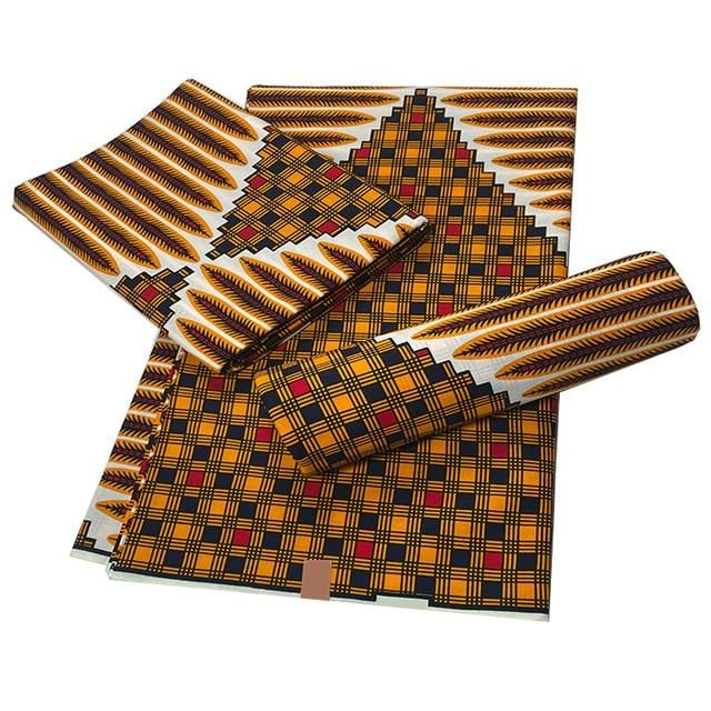 Photo of Soft Cotton Veritable Real Wax Ankara Prints Batik Fabric Africa Sewing Dress Craft Material Tissu Patchwork Garment Accessory – 10 / 3yards