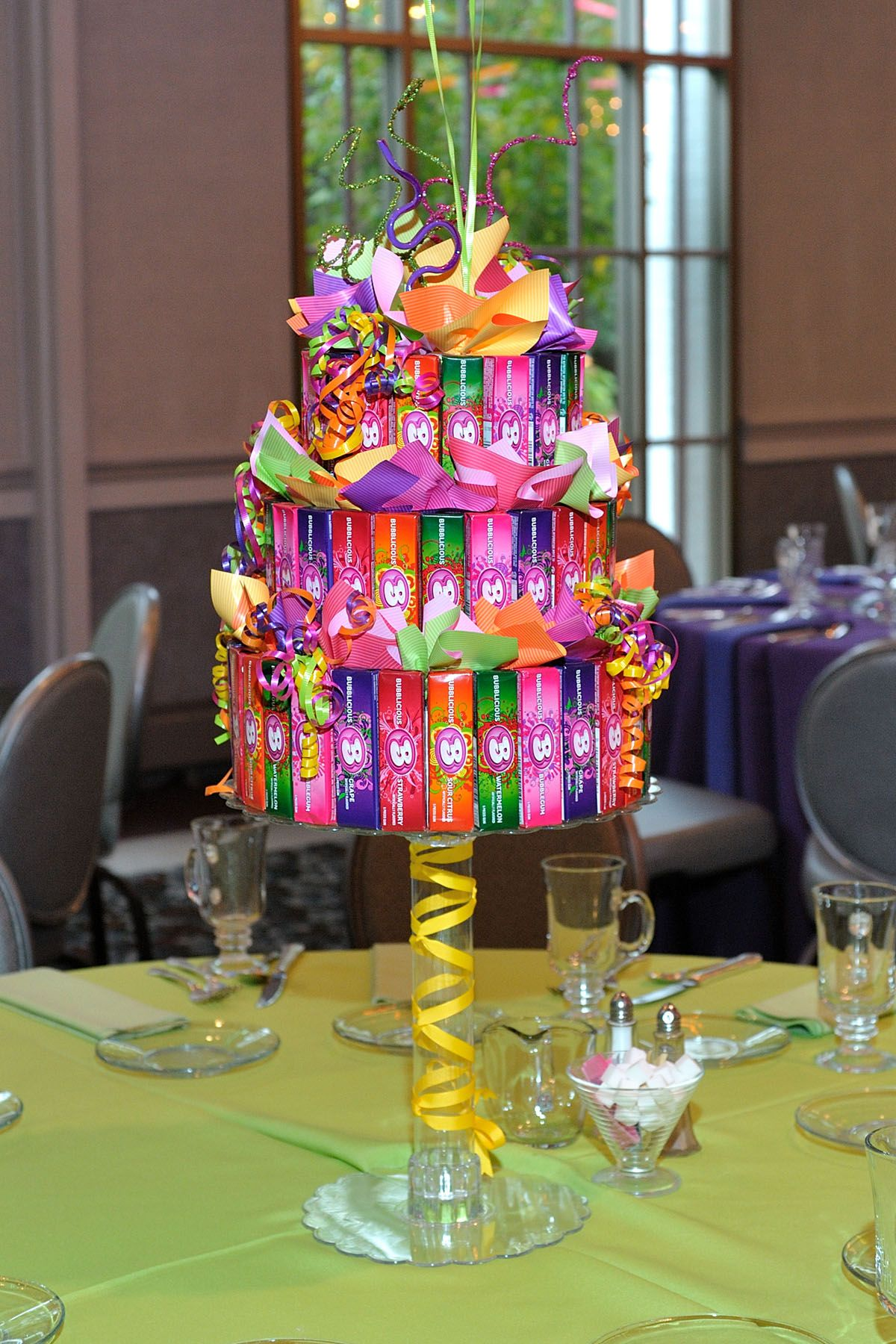 Our 3Tiered Candy Cakes Candy centerpieces, Candy