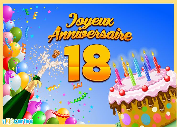 Carte Joyeux Anniversaire 18 Ans Dylan Pinterest Happy
