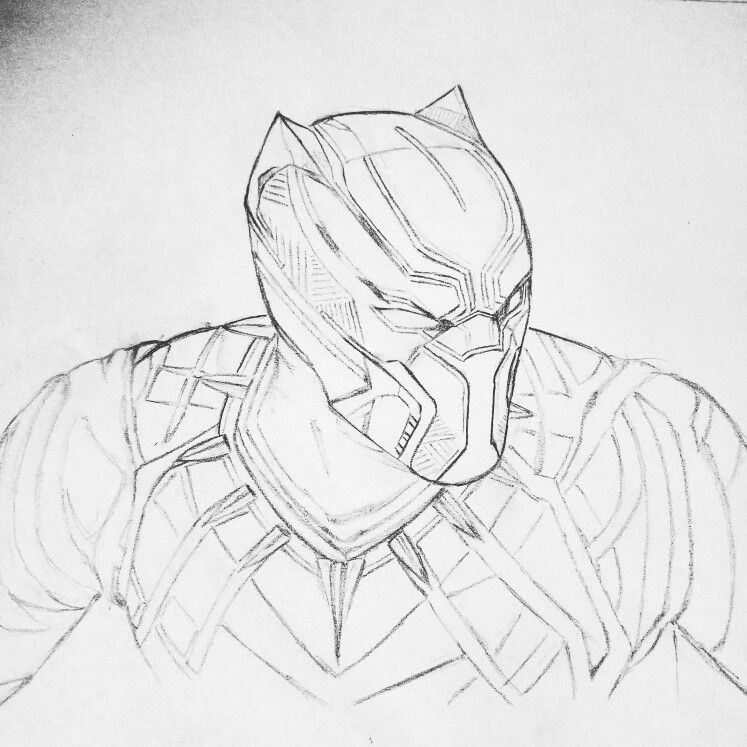 Black Panther Drawing Pinterest Black Panther Drawings And