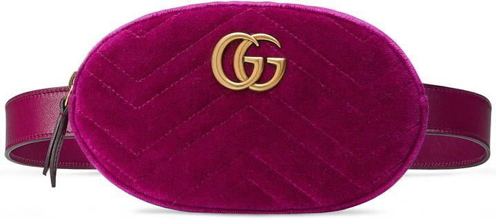 70178b4aa462 GG Marmont matelassé velvet belt bag fanny pack bum bag | Shopping ...