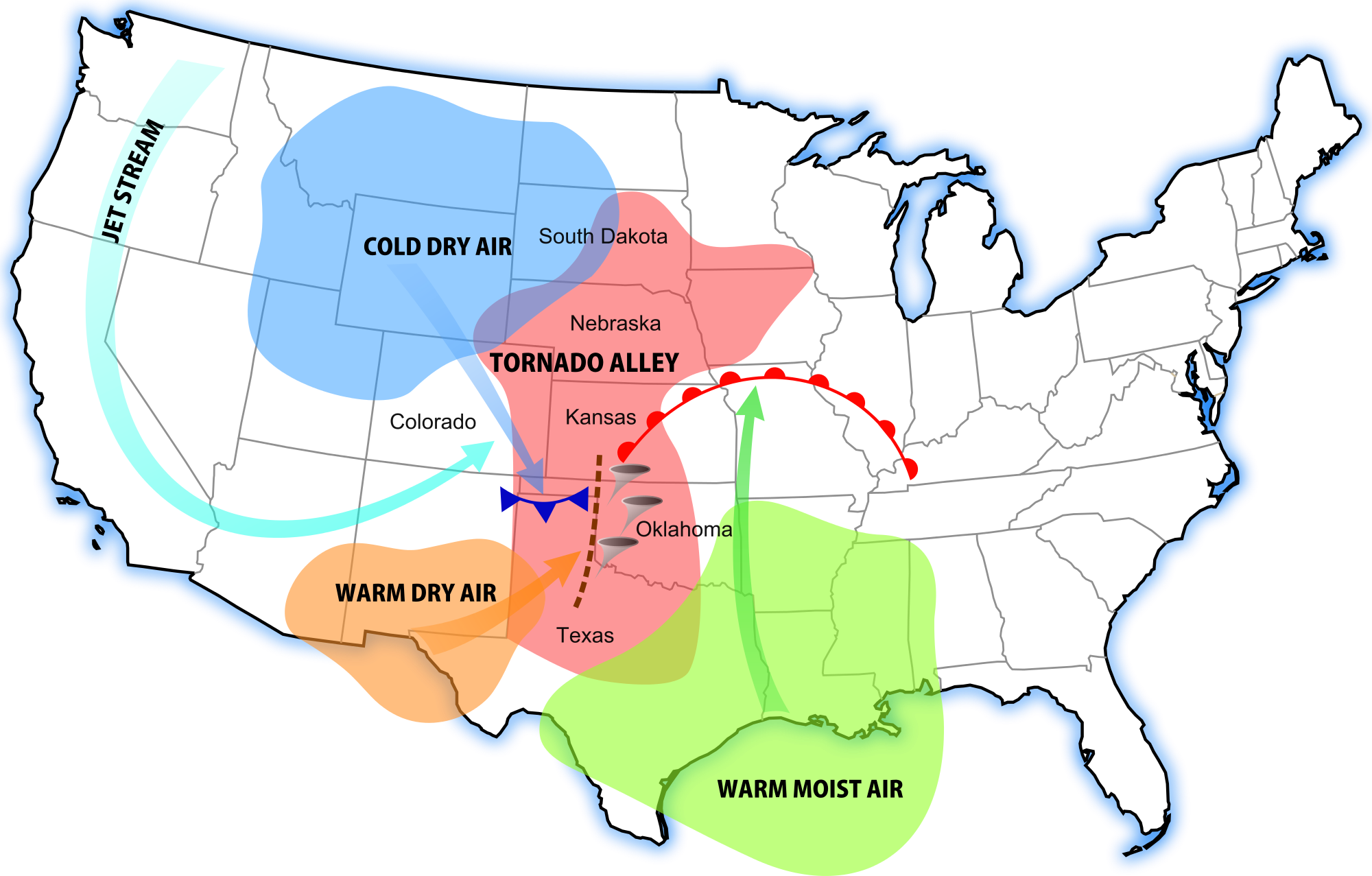 Tornadoes Can Be The Most Destructive Storm Systems In The World - Oklahoma on us map