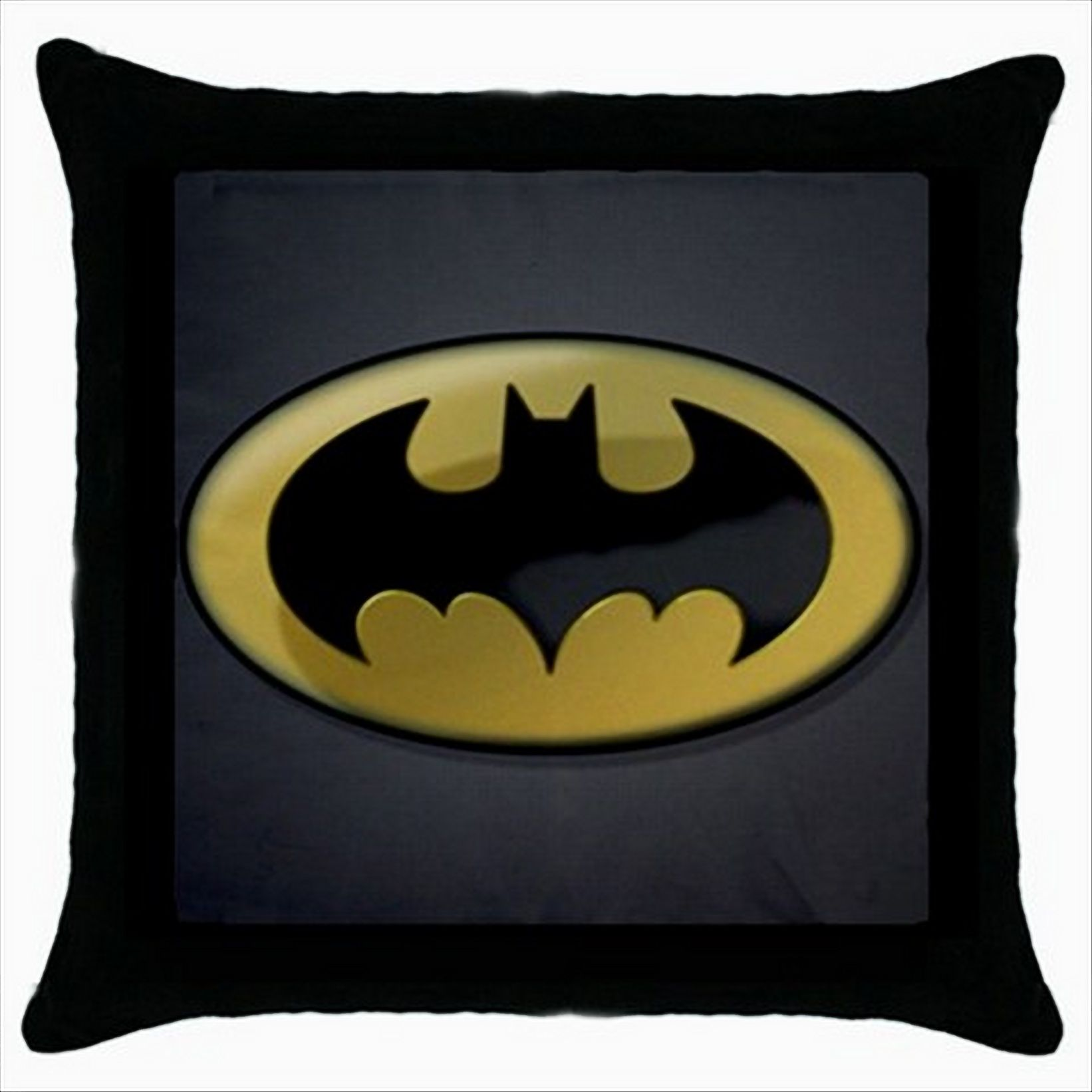 BATMAN LOGO Black Cushion Cover Throw Pillow Case Gift Ebay