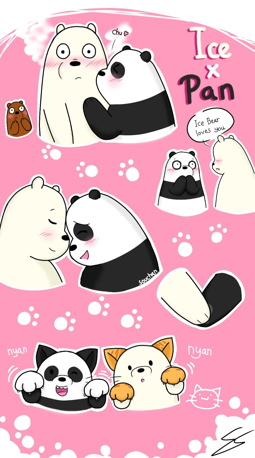 Ice Bear X Panda From Pixiv Ice Bear X Panda We Bare Bears Bare Bears