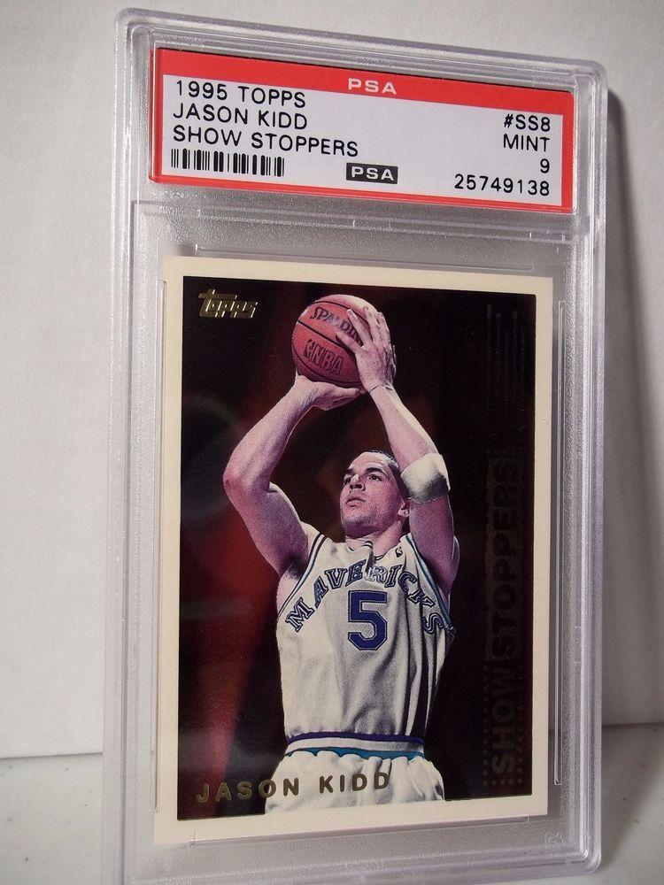 1995 Topps Jason Kidd Psa Mint 9 Basketball Card Ss8 Show Stoppers