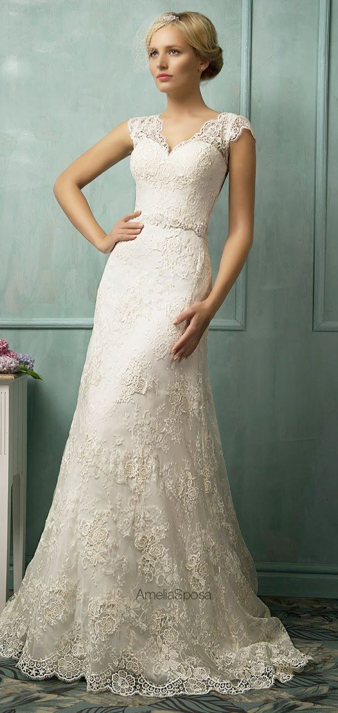 Lace Wedding Dresses On Pinterest Lace Wedding Dresses Gold