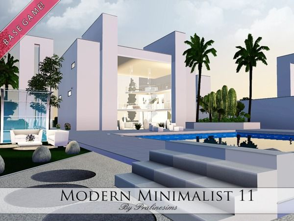Modern Minimalist 11 House By Pralinesims Sims 3 Downloads Cc