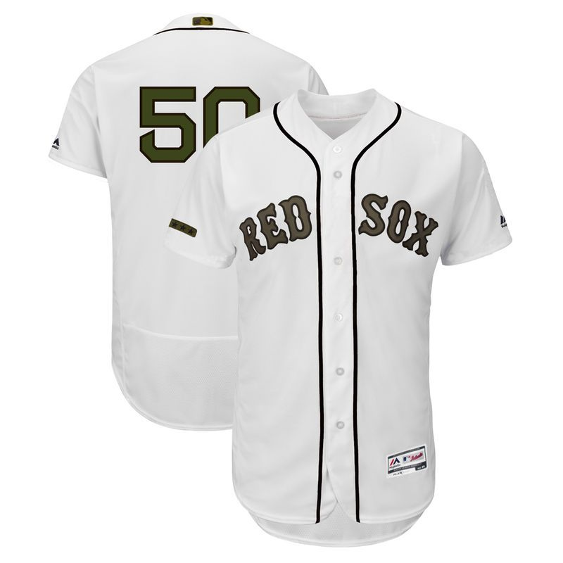 2c7b42fa3f6 Mookie Betts Boston Red Sox Majestic 2018 Memorial Day Authentic Collection Flex  Base Player Jersey - White