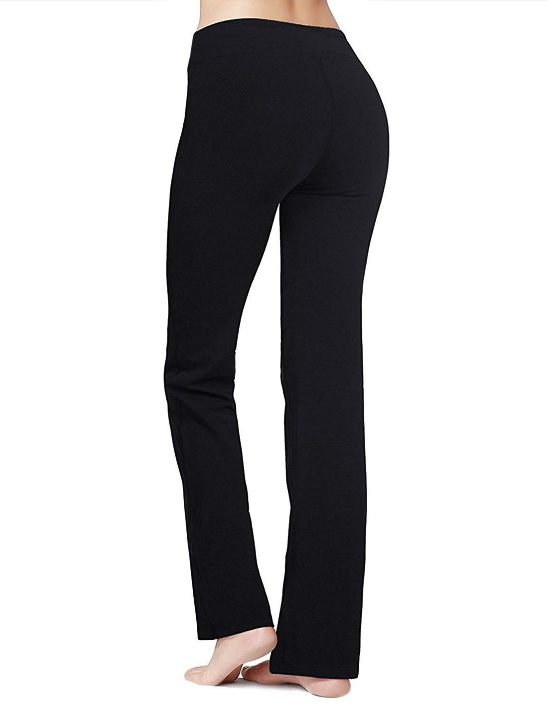897421dff265f pregnancy workout - PhiFA Womens Bootleg Athletic High Waist Running Yoga  Pants Inner Pocket Black Size S >>> Click on the image for added  information.