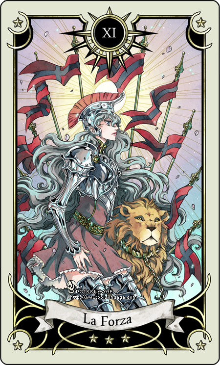 Carte Tarot Justice.Tarot Card 11 The Strength By Rann Poisoncage Deviantart