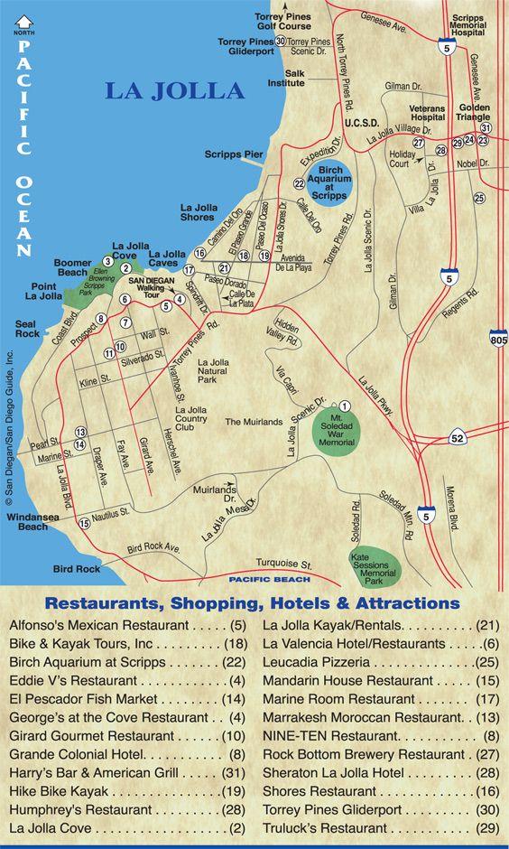 La Jolla Map Then Paradise In La Lolla Pinterest San Diego