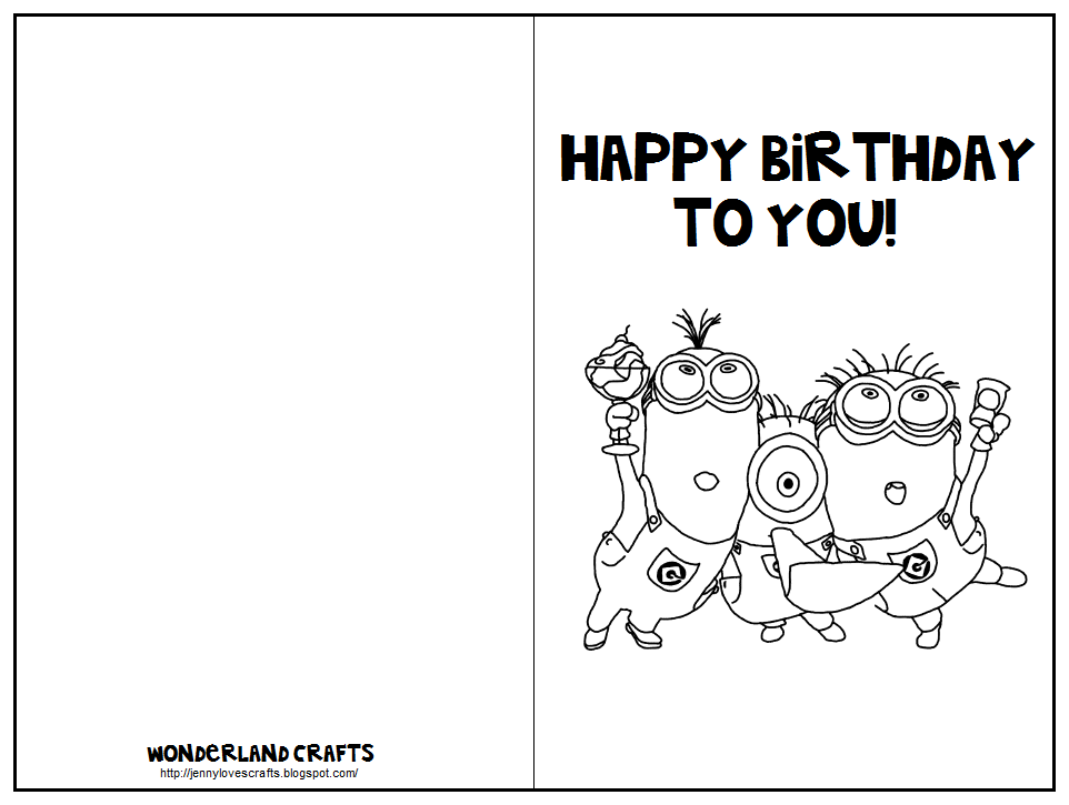 Have them color and decorate the card fold it in half on the line 7 best images of black and white printable birthday cards for mom printable folding birthday card templates free printable happy birthday card template bookmarktalkfo Gallery