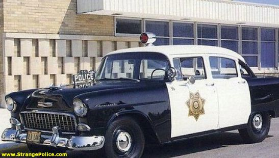 Strange Cop Car 1955 Chevy Police Cars Old Police Cars 1955