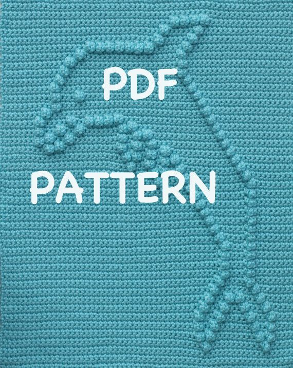 Dolphin Baby Blanket Pattern Crochet Pattern by TheBabyCrow ...