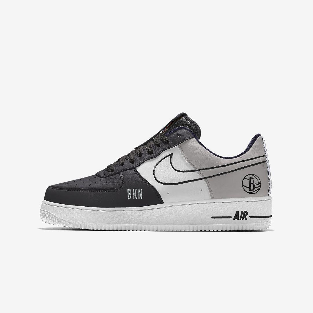 Nike Air Force 1 Low Premium iD (Brooklyn Nets) Men's Shoe