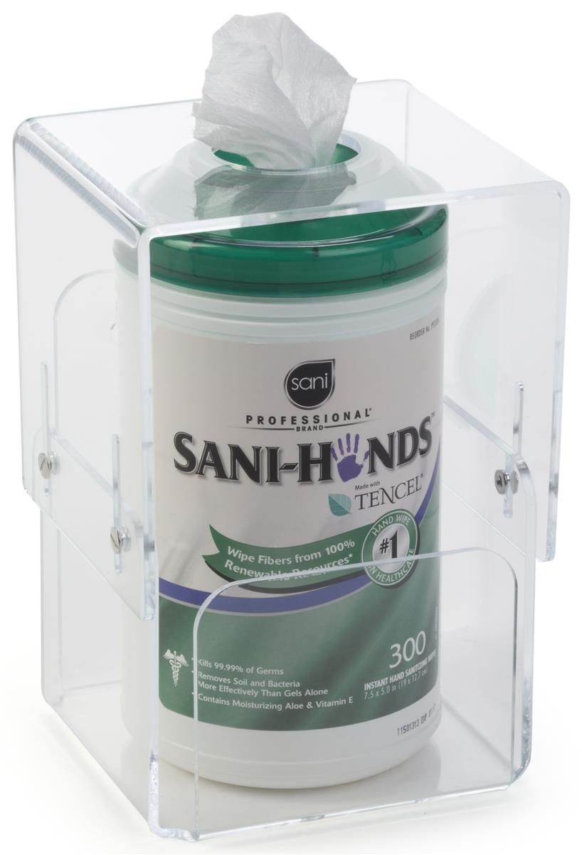 Hand Sanitizer Wipes Dispenser 8 5 X 11 Sign Frame Trash Bin
