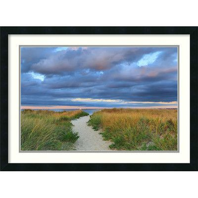 Amanti Art Jetties Beach Path by Katherine Gendreau Framed Photographic Print