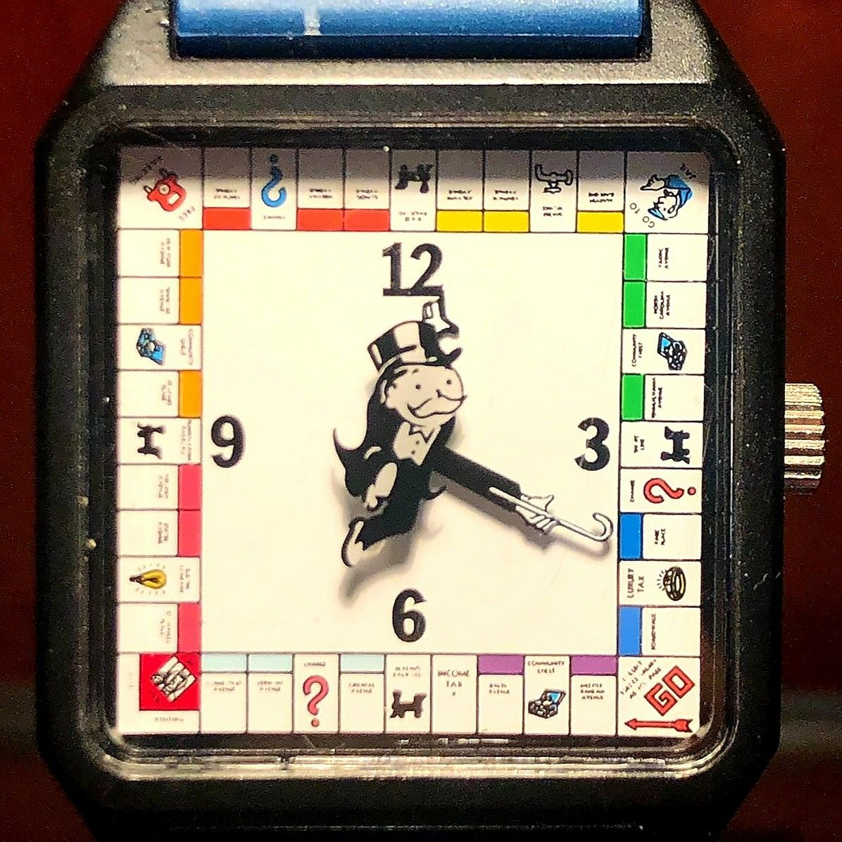 This is a vintage ca. 1986 E Gluck Parker Brothers Monopoly quartz watch sent in by Mary, from Washington, for repair. Thank you, Mary! ❤️ E Gluck, founded in 1956, by Eugene Gluck, is a watch manufacturer for fashion brands including Anne Klein, Armitron, Nine West, Badgley Mischka, and Vince Camuto. ⭐ #fashionwatchrepair #monopoly #washington #mary #time #fashion #repair #professional #manufacturer #watchfan #watch #upgrade #approved #different #timepieces #watchrepair #watchaddict #watchlov