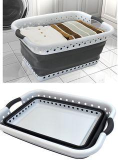 collapsible laundry basket!  popandload.com
