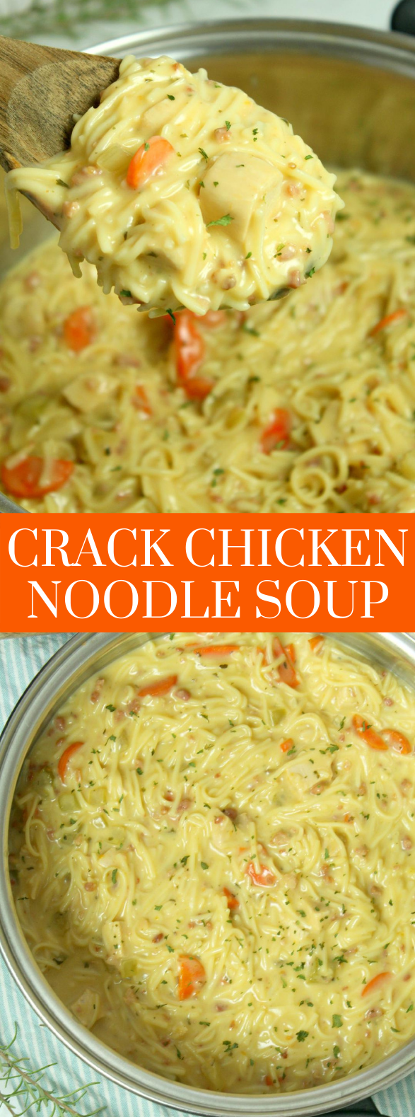 Crack Chicken Noodle Soup #dinner #recipes #dinnerrecipes