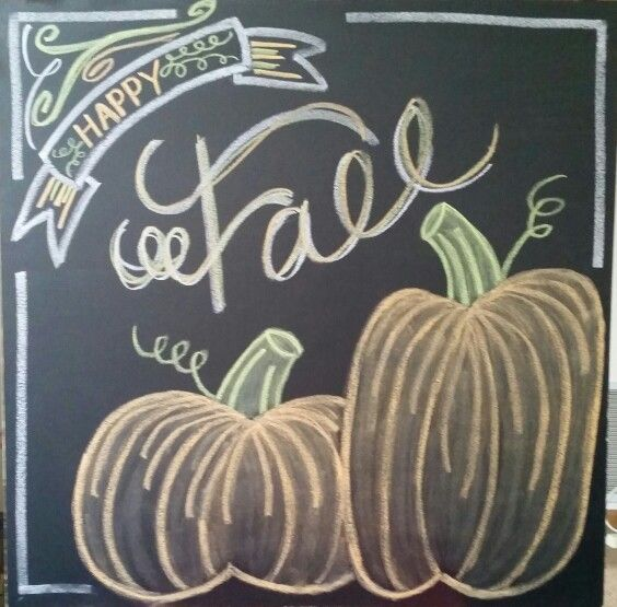 "Blackboard Artwork Ideas: ""Happy Fall"" Chalk"