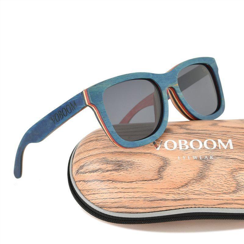 3092f746054 VOBOOM Summer Sunglasses Men Polarized Skateboard Wooden Eyewear for Women  UV Protection