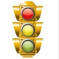 Stop Light Vector Image Traffic Light Simple Shapes Stop Light