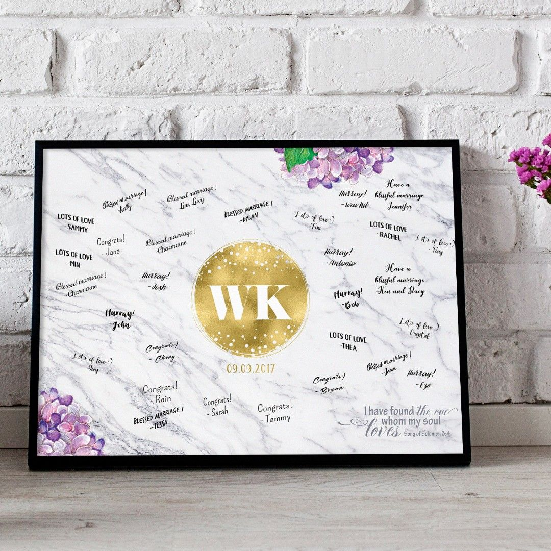 Somegoodwords Wedding Guest Book Alternative Sign Gift Customise