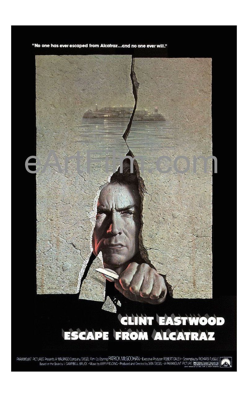 Escape From Alcatraz 1979 Original U S One Sheet Movie Poster