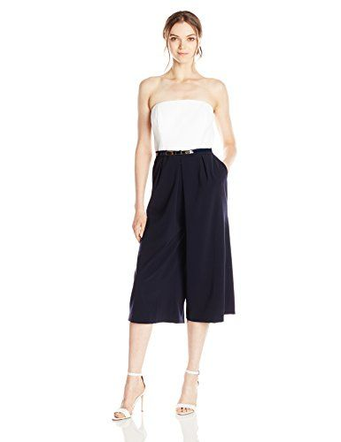 Ted Baker Womens Halyn Strapless Culotte Jumpsuit White 0 >>> You can find out more details at the link of the image.