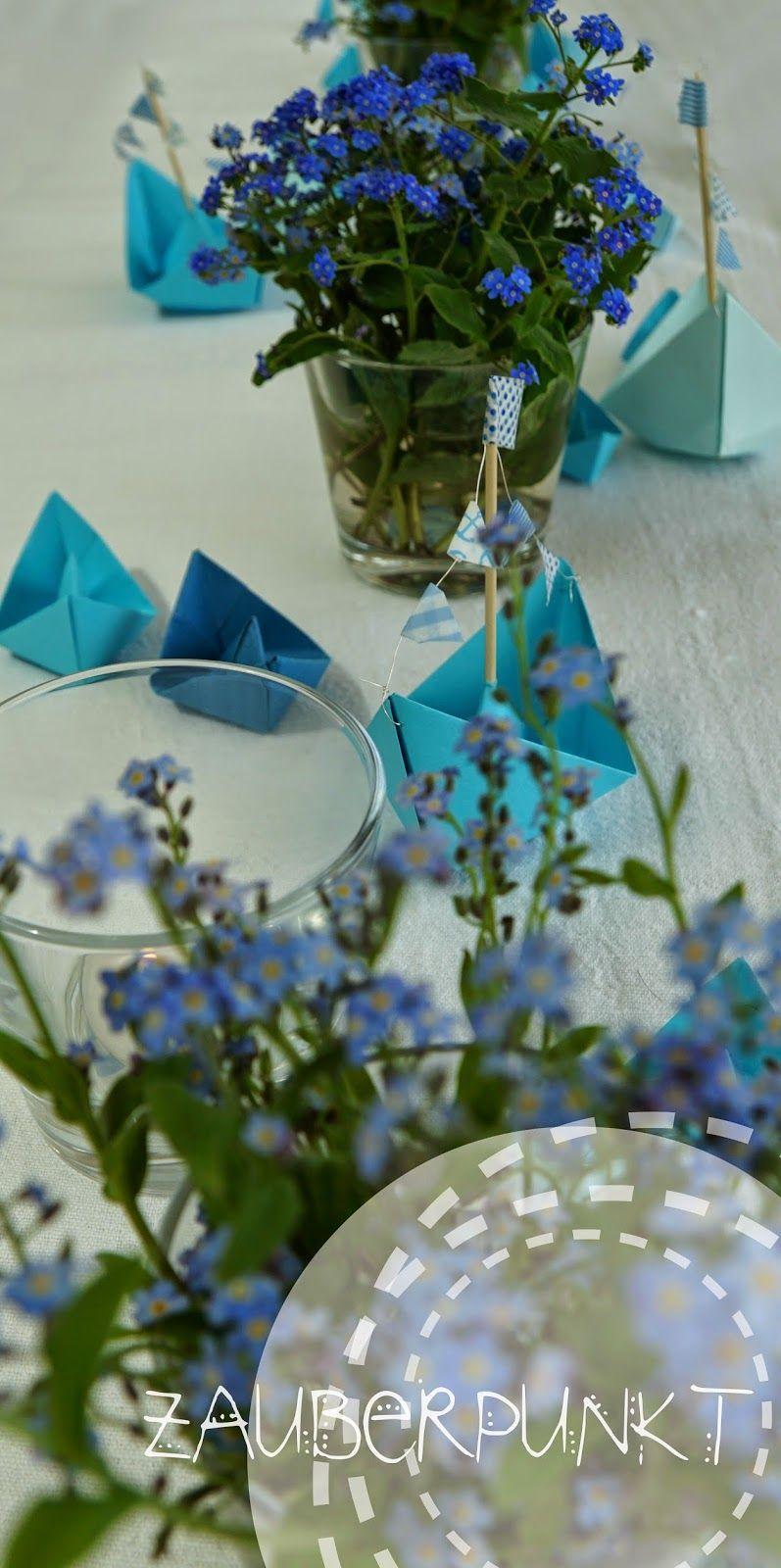 Blumendeko Taufe Junge Tischgesteck Taufe Hell Turkis Baby Junge