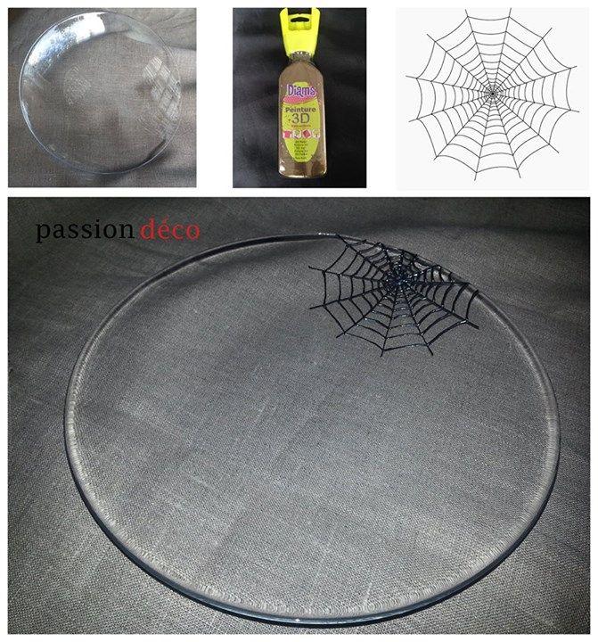 La peinture DIAMu0027S 3D tient sur le verre ! Toile du0027araignée réalisée