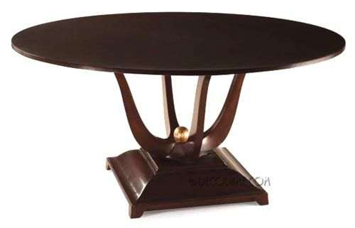 French Art Deco Style Round Dining Table Or Center Table Dining